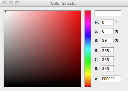 Processing's Colour Selector