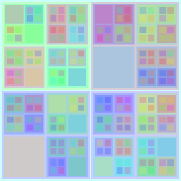 Colourful Recursive Squares 3