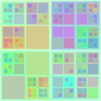 Colourful Recursive Squares 4